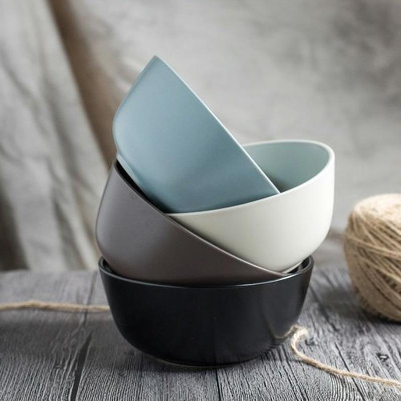 个性创意日式韩式汤碗餐饮具家用瓷碗菜碗饭碗大碗泡面碗微波炉碗