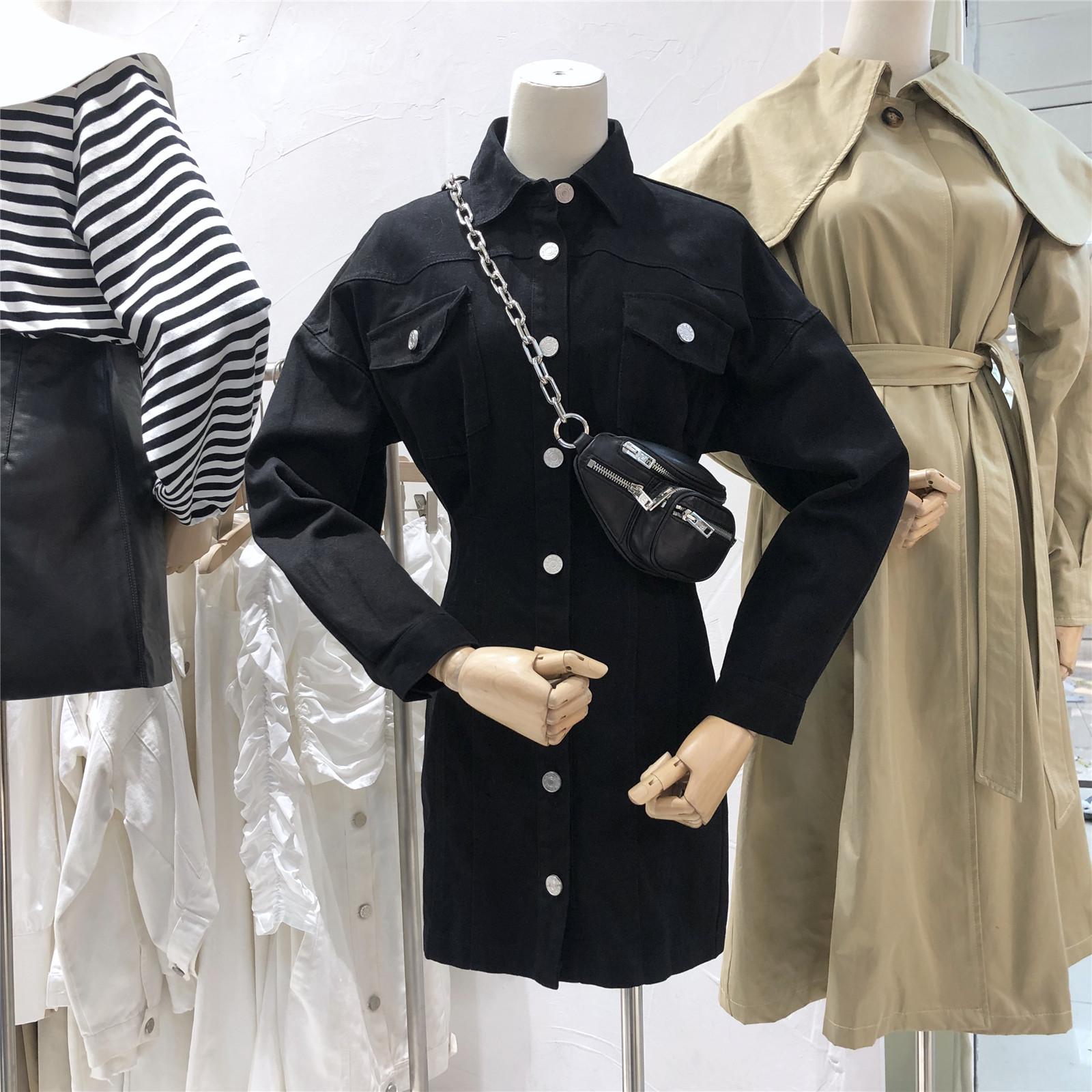 star秋季新款韩版polo领长袖短裙限时抢购