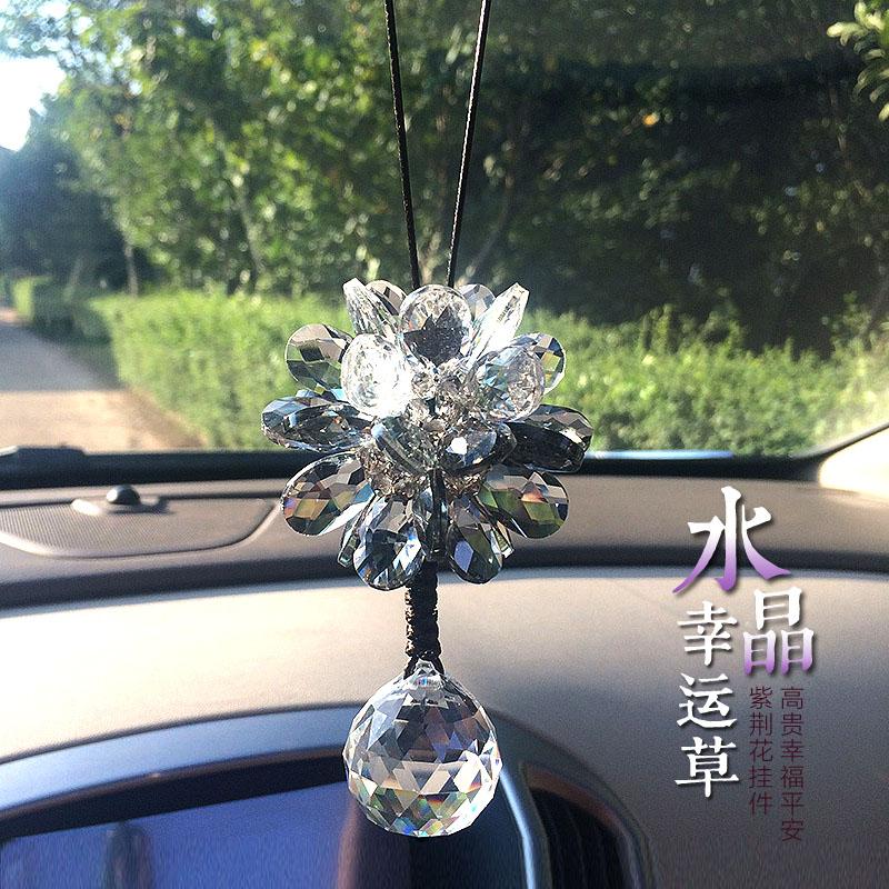 汽车水晶挂件 高档车内挂饰车载装饰吊坠女士水晶车饰挂件车挂饰
