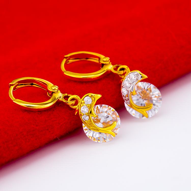 Gold earrings earrings earrings earrings earrings earflowers 999 gold womens gift jewelry birthday gift
