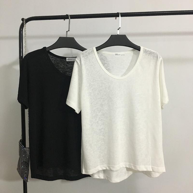 甜心家 显瘦V领短袖T恤 简约纯色宽松上衣韩版女装BF风2019新款夏