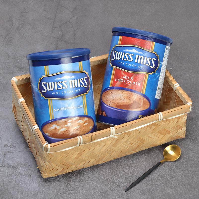 临期美国进口瑞士小姐SWISS MISS棉花糖牛奶巧克力冲饮粉737g*2桶