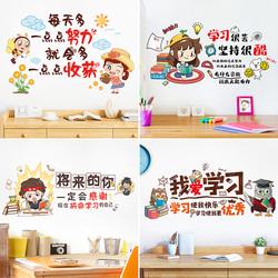 学习励志墙贴纸标语儿童房间装饰布置书房墙面小学生激励墙壁贴画
