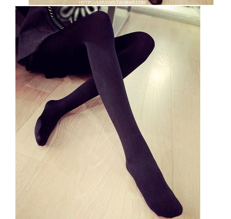 8062秋冬韓版女天鵝拉絨瘦腿打底褲連腳襪褲子