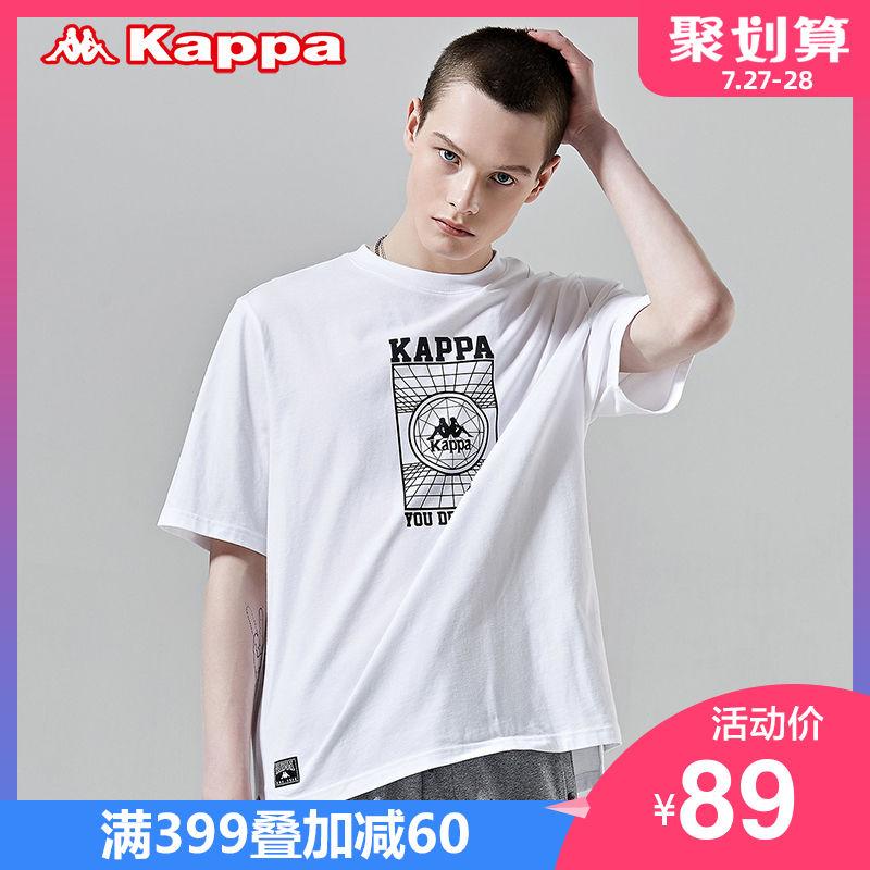KAPPA卡帕 男款运动短袖休闲T恤夏季半袖 2019新款 K0912TD67D