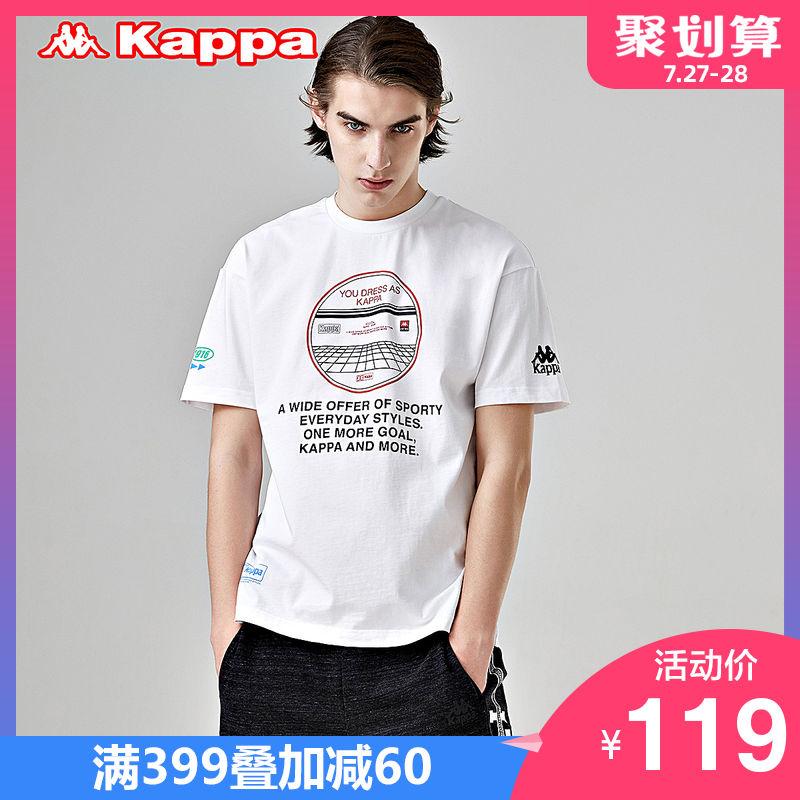 Kappa卡帕 男款运动短袖休闲T恤夏季半袖 2019新款 K0912TD60D