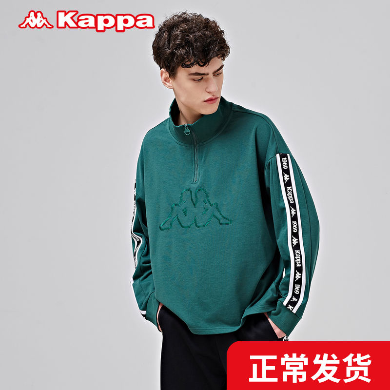 Kappa men's standard Pullover autumn and winter sportswear casual loose long sleeve coat