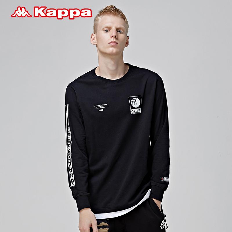 KAPPA卡帕 男运动长袖卫衣休闲圆领上衣2018新品|K0852TC36