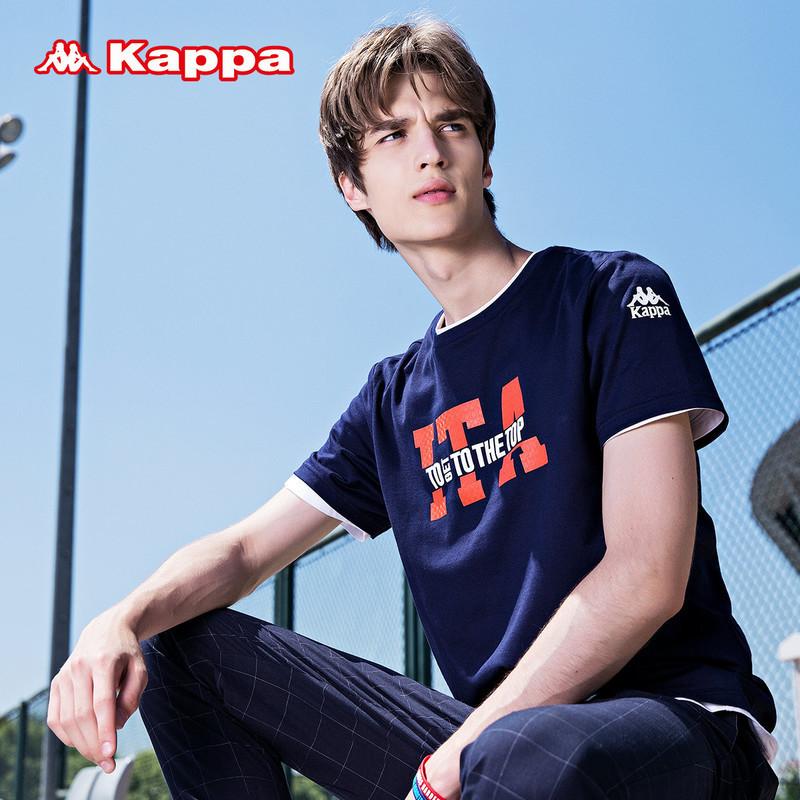 惠Kappa男运动短袖 背靠背健身衣透气T恤休闲舒适吸汗纯棉t恤