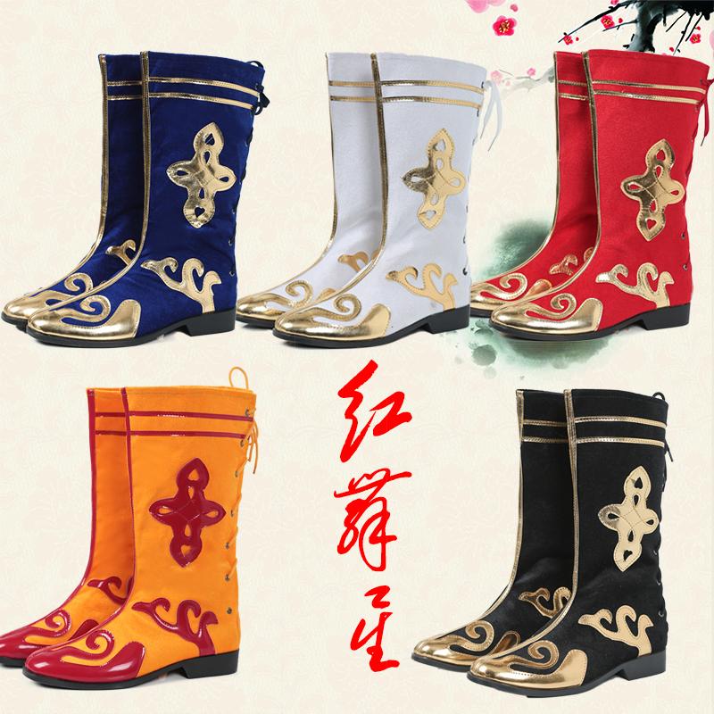 Новый тибет гонка производительность танец ботинки меньше количество народ монголия ботинки мужской и женщины прекрасный обезьяна король ребенок переходный мостик борьба барабан обувной