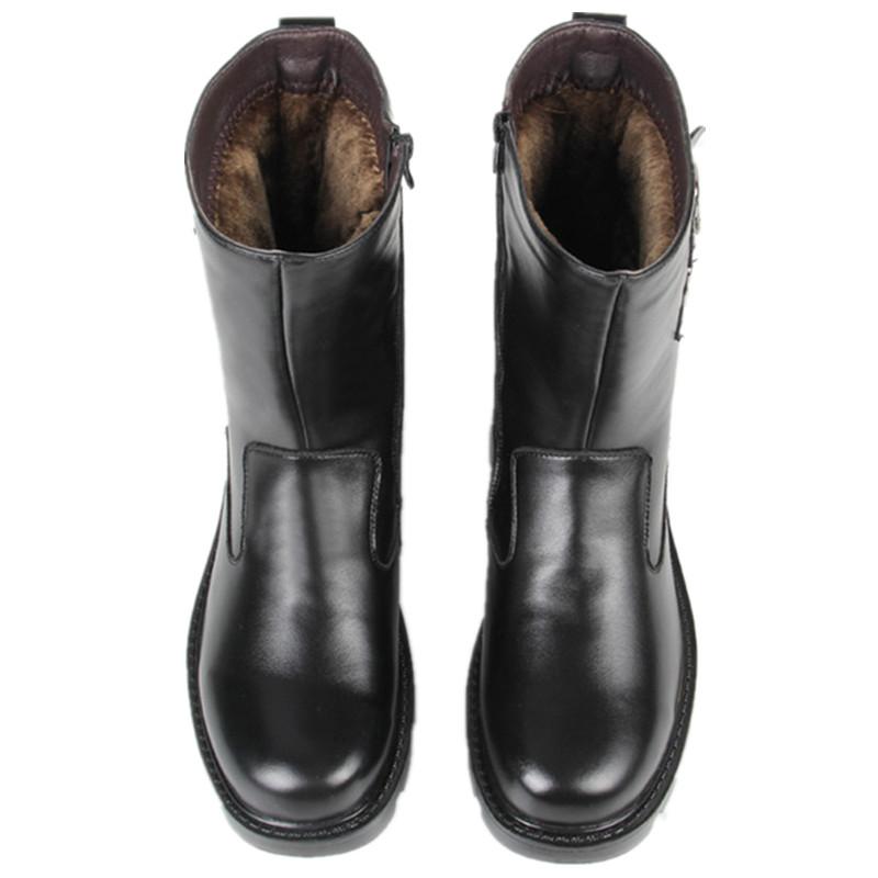 雪地靴男冬季保暖加绒防水防滑户外男士皮靴英伦中筒加厚高帮靴子