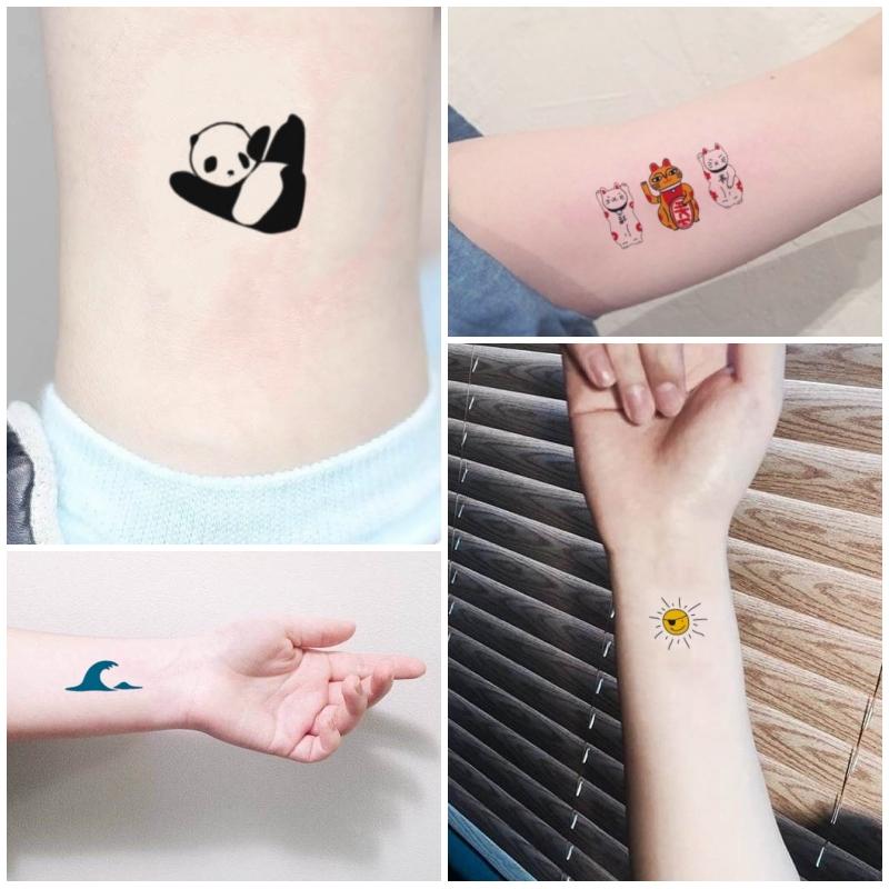 卡通纹身贴纸 儿童安全防水持久可爱韩国仿真遮疤小清新贴纸
