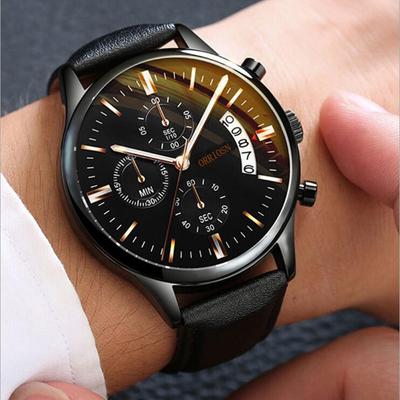 2020 new watch sports men's watch belt decoration three-eye student watch men's fashion trend calendar business
