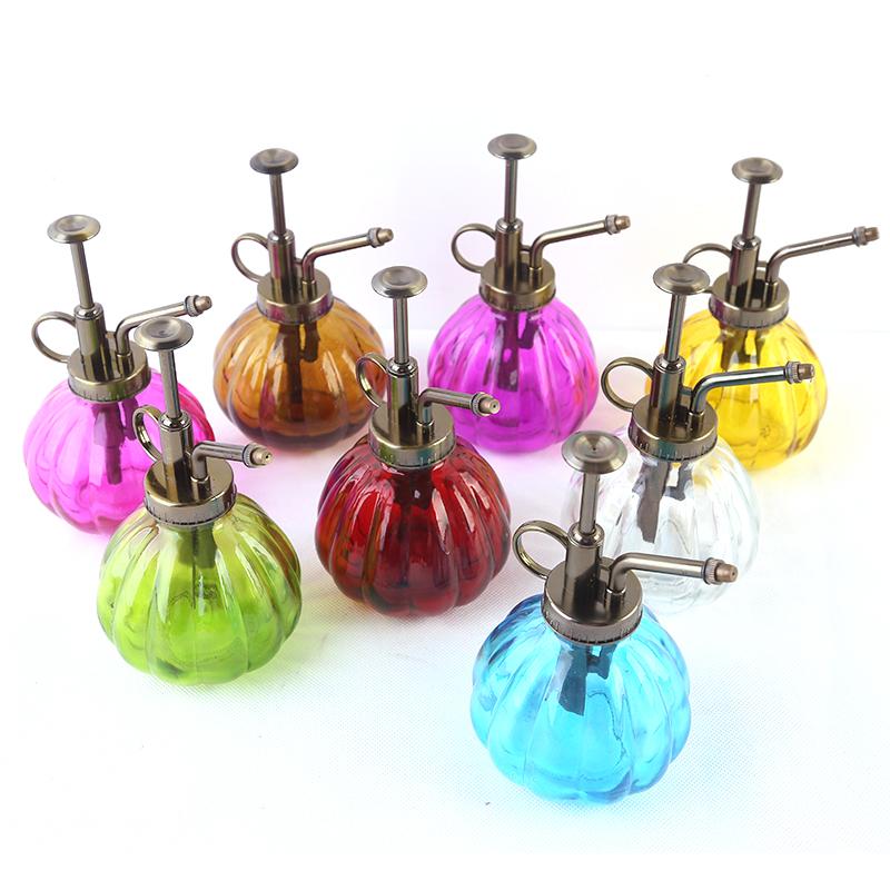 Ретро лейка тыква стекло больше мясо поддержка головка душа чайник небольшой двойной спрей горшок лить цветочный горшок стеклянные бутылки
