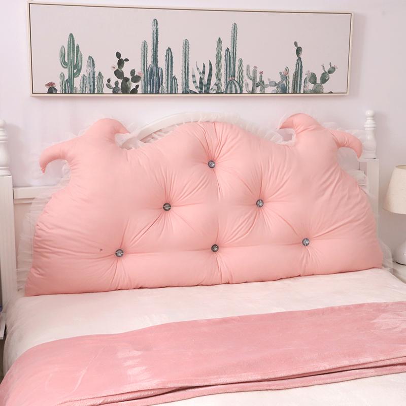 床头靠垫软包双人大靠背可拆洗卧室网红可爱公主长靠枕床上抱枕头(用2元券)
