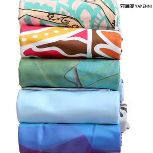 防滑瑜伽铺巾印花瑜伽毯健身瑜伽巾吸汗瑜伽垫铺巾毛巾折叠便携初
