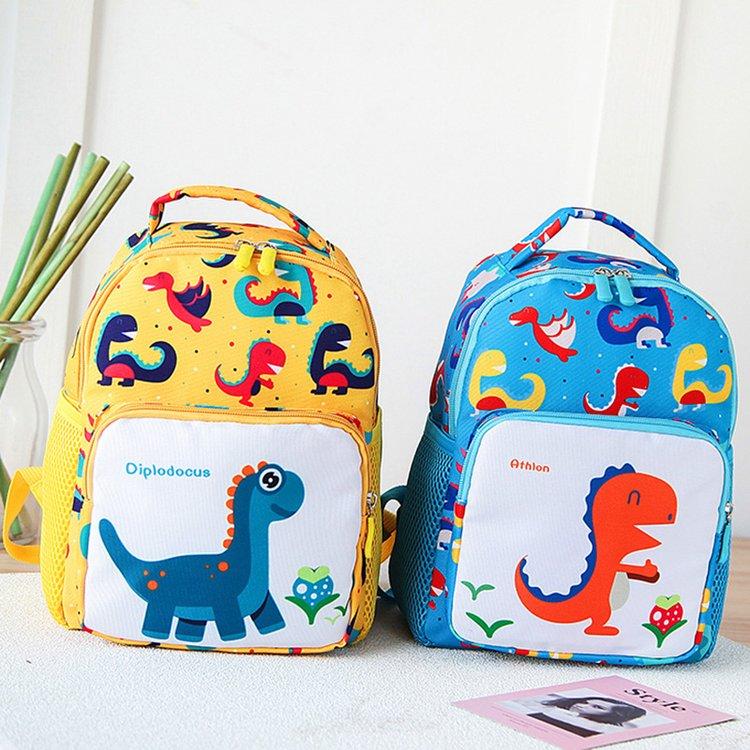 寶寶書包1-3-6歲幼兒園男童春游大班兒童雙肩包男恐龍防走失背包