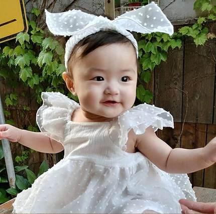 婴儿生日装1周岁 公主裙夏图片