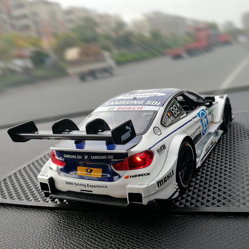 德國房車DTM拉力賽寶馬M4模型汽車擺件潮流個性拉花創意車內飾品