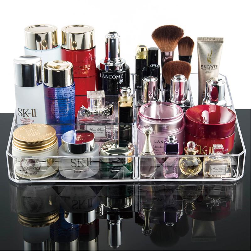 亞克力透明抽屜式化妝品收納盒 收納化妝盒梳妝台桌麵收納櫃