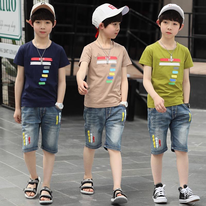 男童夏季短袖T恤2018新款6韩版7男孩子8夏装9上衣10-12岁潮小学生