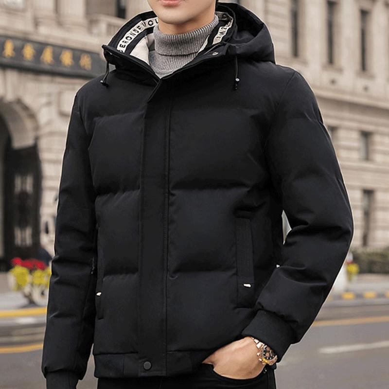 棉衣男士外套冬季2020新款短款棉袄韩版修身潮流毛领工装羽绒棉服