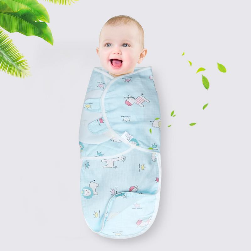 0-6个月婴儿防惊跳襁褓睡袋新生儿纱布夏季超薄包巾初生小孩包被