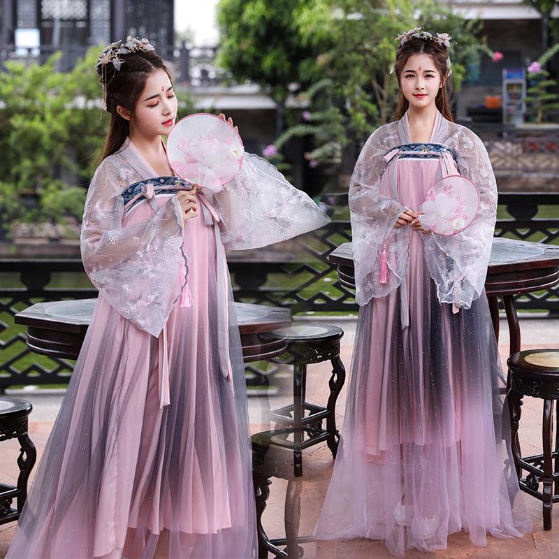 花神赋古装汉服仙女仙气樱花中国风超仙飘逸日常大袖衫古装
