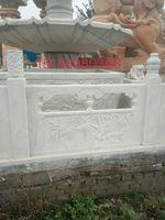 汉白玉石材栏杆户外拱桥石材栏杆河道石寺院石材栏杆等大理石制品