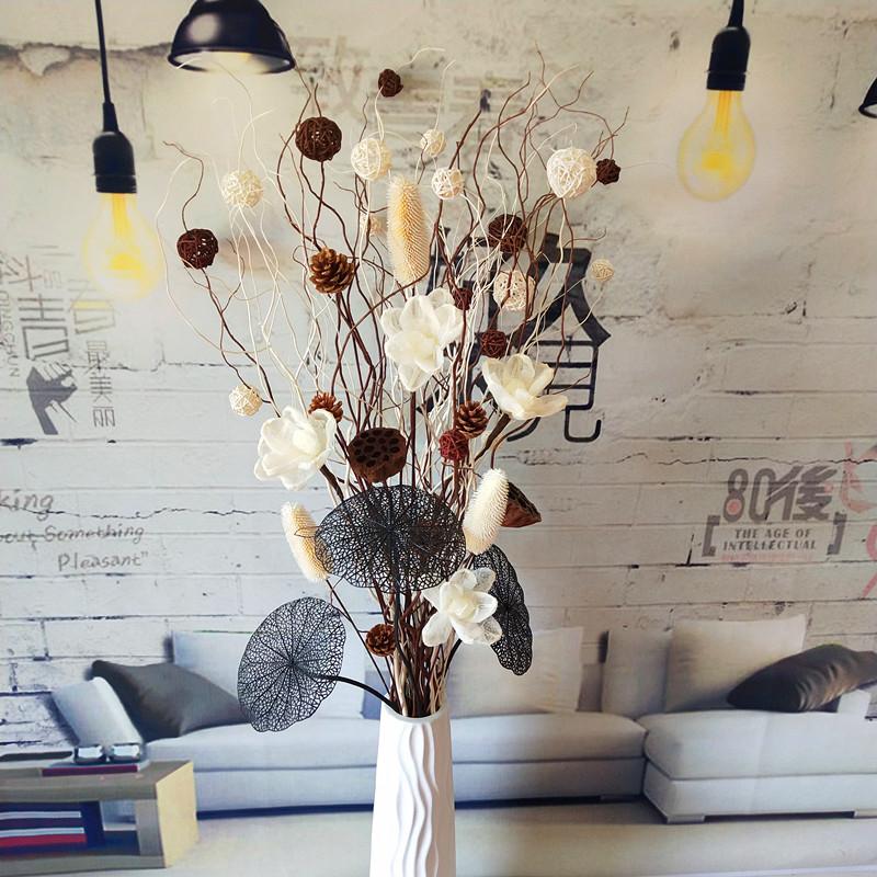 12月02日最新优惠叶脉花曲柳天然树枝客厅落地干花