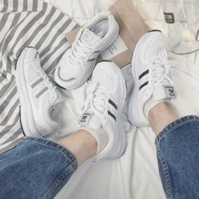 夏季韩版街拍风ulzzang白色休闲鞋