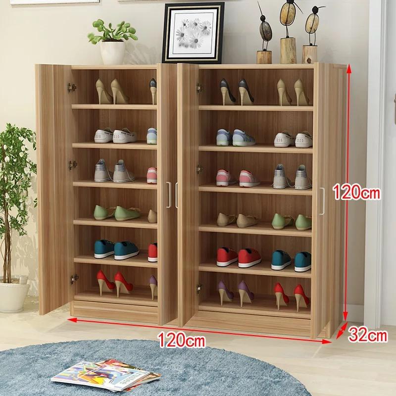 包邮特价现代简约大容量木质鞋柜储物收纳柜门厅两门三门简易鞋柜