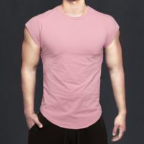 MSCT原创潮牌纯棉无袖T恤背心男夏季健身房训练运动短袖速干衣服