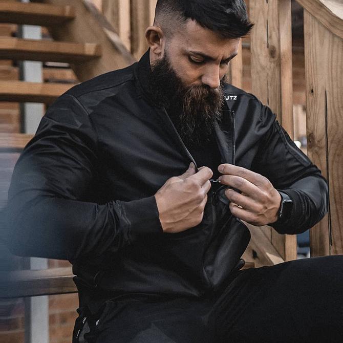 夹克上衣秋季 2020新 运动男士 肌肉队长潮流宽松休闲 款 外套男春秋款