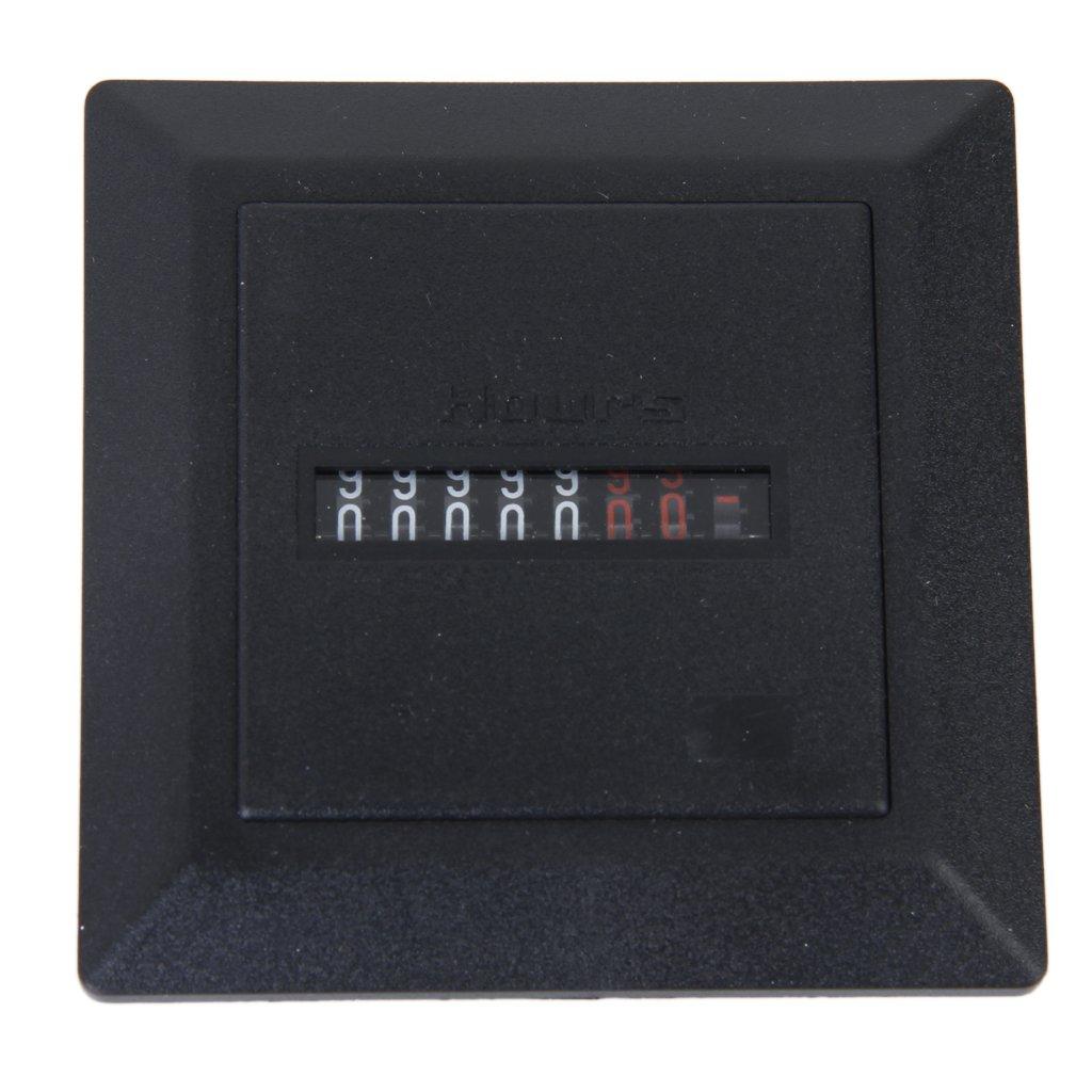 AC 220-240V Square Non-Resettable Quartz Sealed Hour Meter G