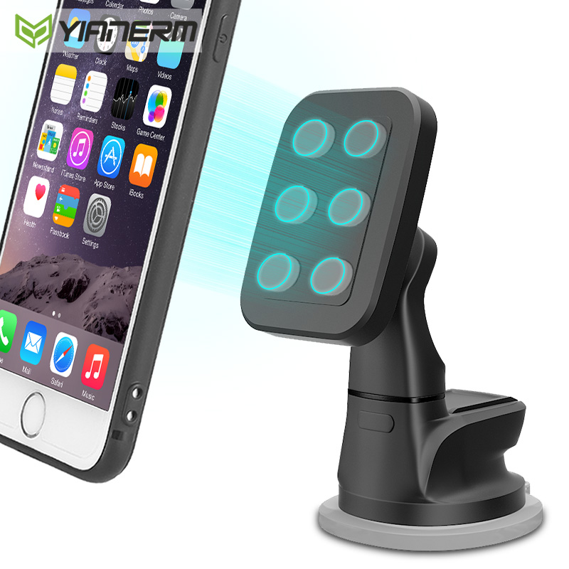 手机支撑架车载磁吸吸盘式单手取放中控仪表台电话导航架6颗磁石