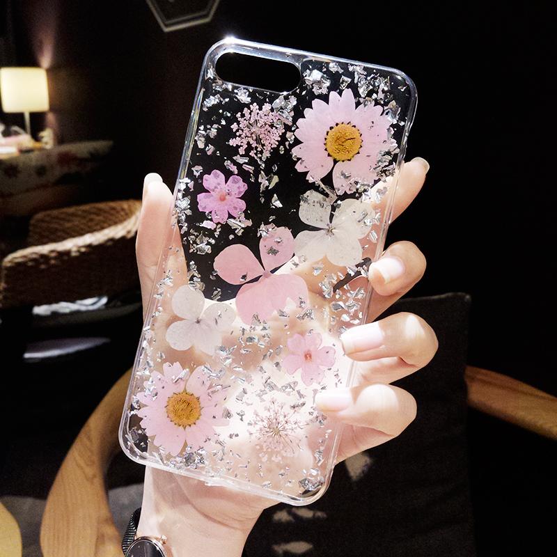 立体滴胶iPhoneX手机壳全包边防摔6s女款苹果8plus硅胶套软7p新潮