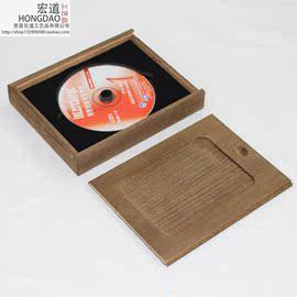 光盘盒子可激光雕刻logo婚礼光盘盒子实木光盘盒光盘收纳创意cd盒