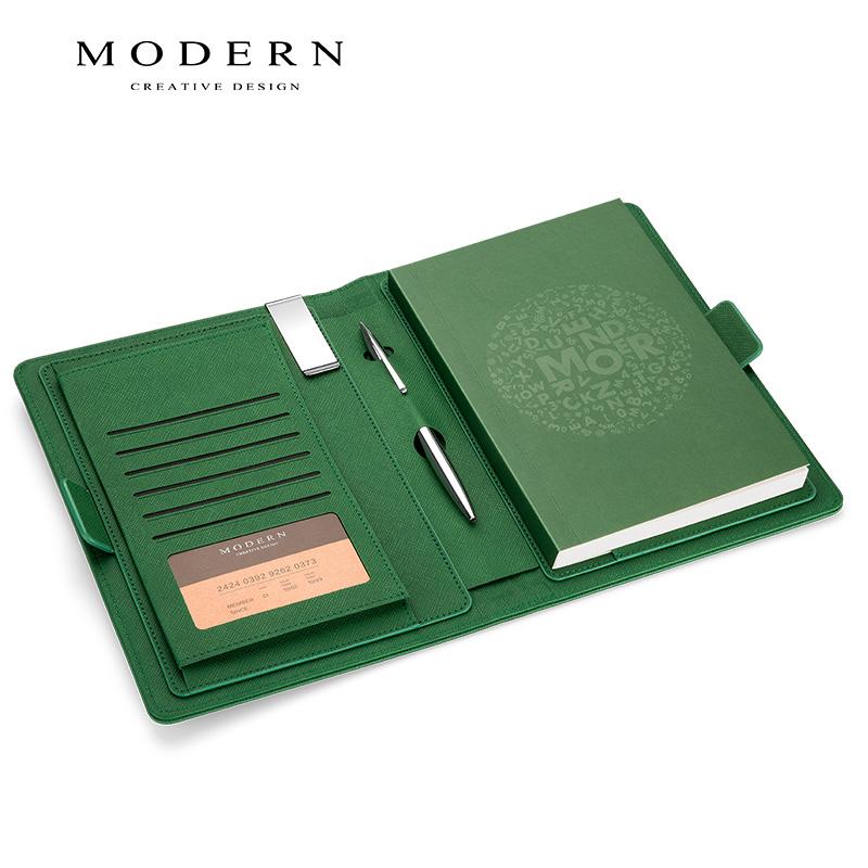德国MODERN商务办公用皮面高档记事本手帐本笔记本子文具定制logo