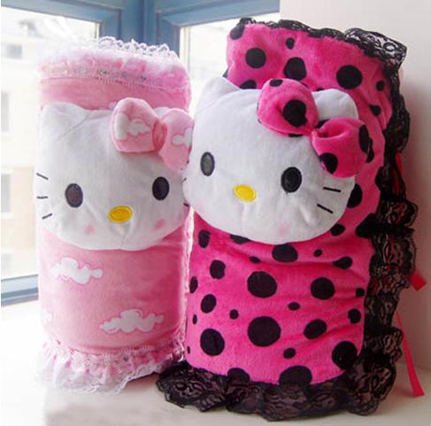 hello kitty kt猫卷毯午休小毯子小盖毯 珊瑚绒空调毯 卡通可折叠