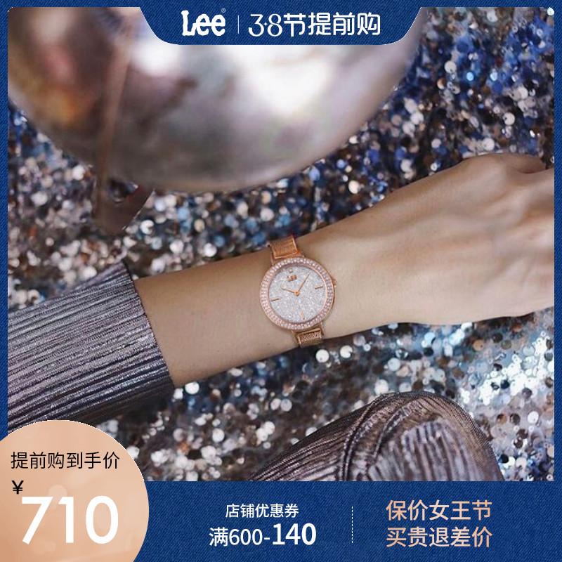 Lee品牌手表女士DW时尚气质小众女款ck表ins风正品官方旗舰店官网
