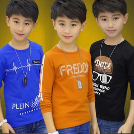 男童长袖t恤春秋装2019新款韩版中大童男孩纯棉儿童打底衫上衣潮