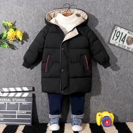 冬季新款2019儿童羽绒棉服男童女童宝宝棉衣中小童加厚中长款外套
