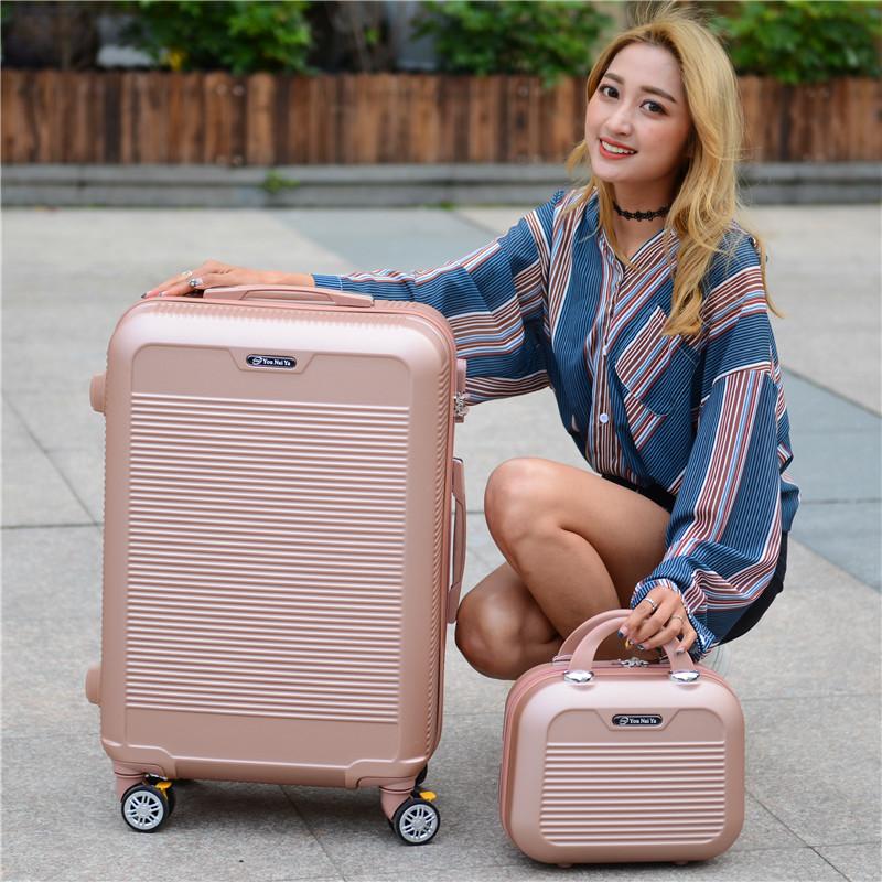 新款子母箱时尚拉杆箱万向轮旅行箱商务登机箱学生行李箱男女密码