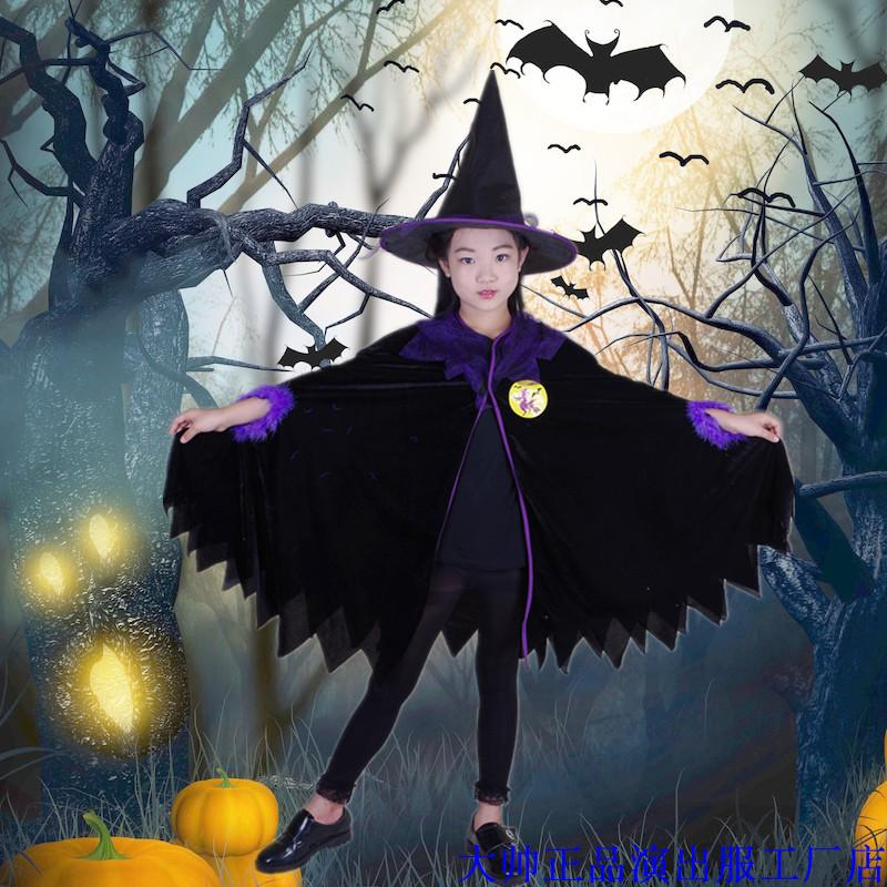 Halloween childrens costume girls cosplay costume little witch Party Costume