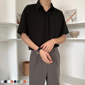 轻熟风男装夏季高级设计感白衬衫