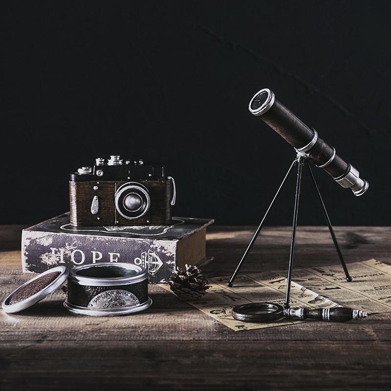 (用14.5元券)美式复古创意照相机模型摆件店铺家居装饰品咖啡店欧式工艺品摆设