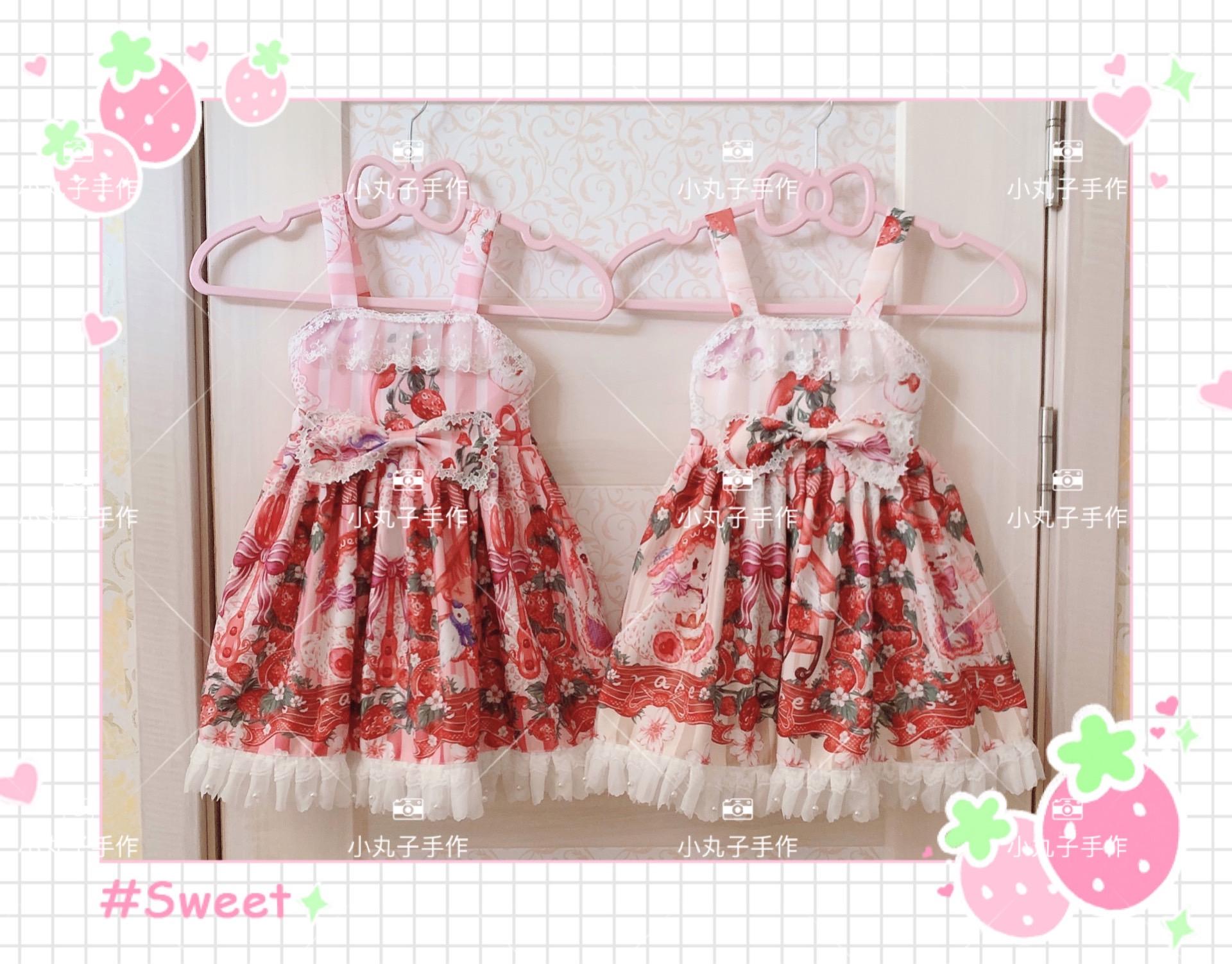 丸子手作りオリジナルの甜心兔子供服可愛いロリータ子供レースJSKワンピース