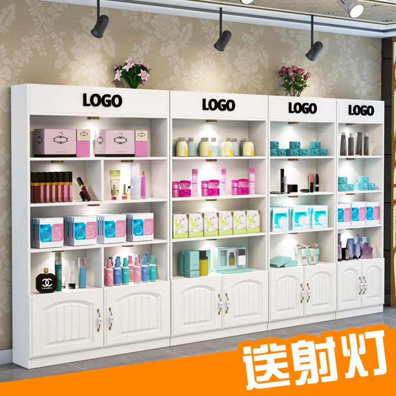 欧式产品展示柜化妆品美容院护肤品组合货柜精品展柜货架陈列柜门