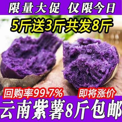 云南特产小紫薯南紫薯新鲜新鲜非10越南紫薯新红薯5斤包邮
